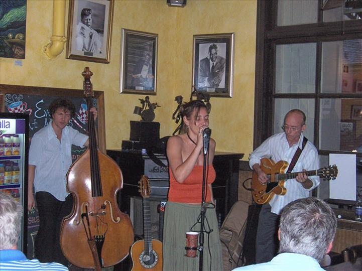 band playing inside aromas
