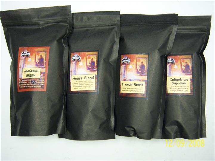 four bags of small coffee