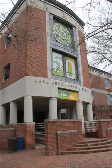 side view of earl gregg skem library