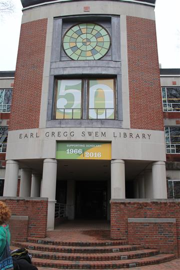 outside view of earl gregg skem library