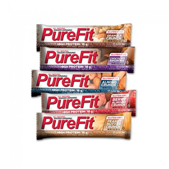 a variety of purefit nutrition bars