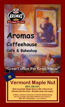 BAG LABEL Master Copy VERMONT MAPLE NUT Decaf-2