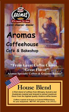 HOUSE BLEND BAG LABEL MASTER COPY