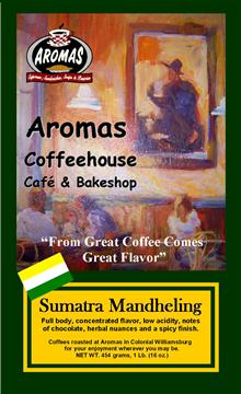 Name: SUMATRA MANDHELING LABEL Master Copy