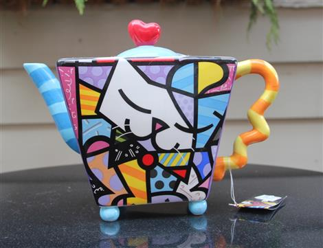 Britto Cat Teapot