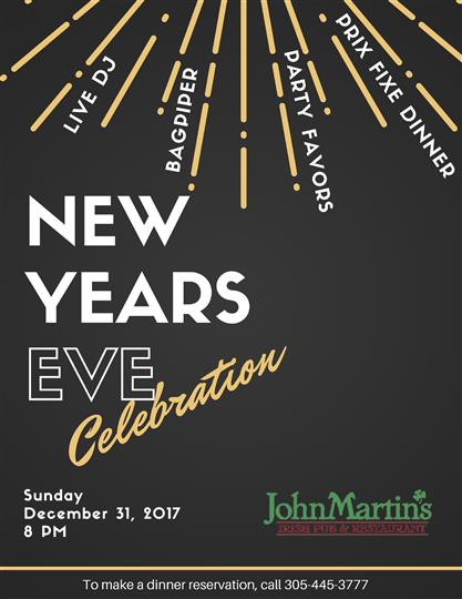 John Martin's New Years Eve