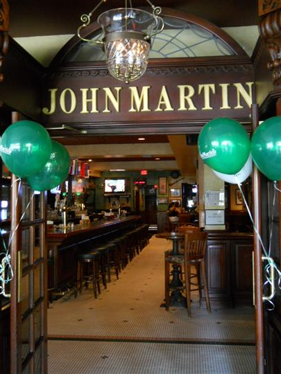 Entrance to bar area for John Martins