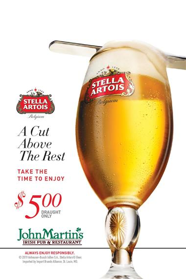 $5 Stella Pints during Rugby Matches