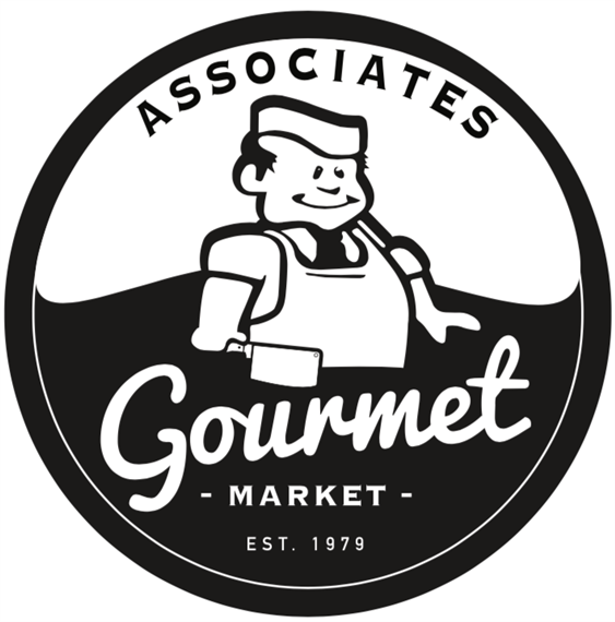 associates gourmet market. Established 1979