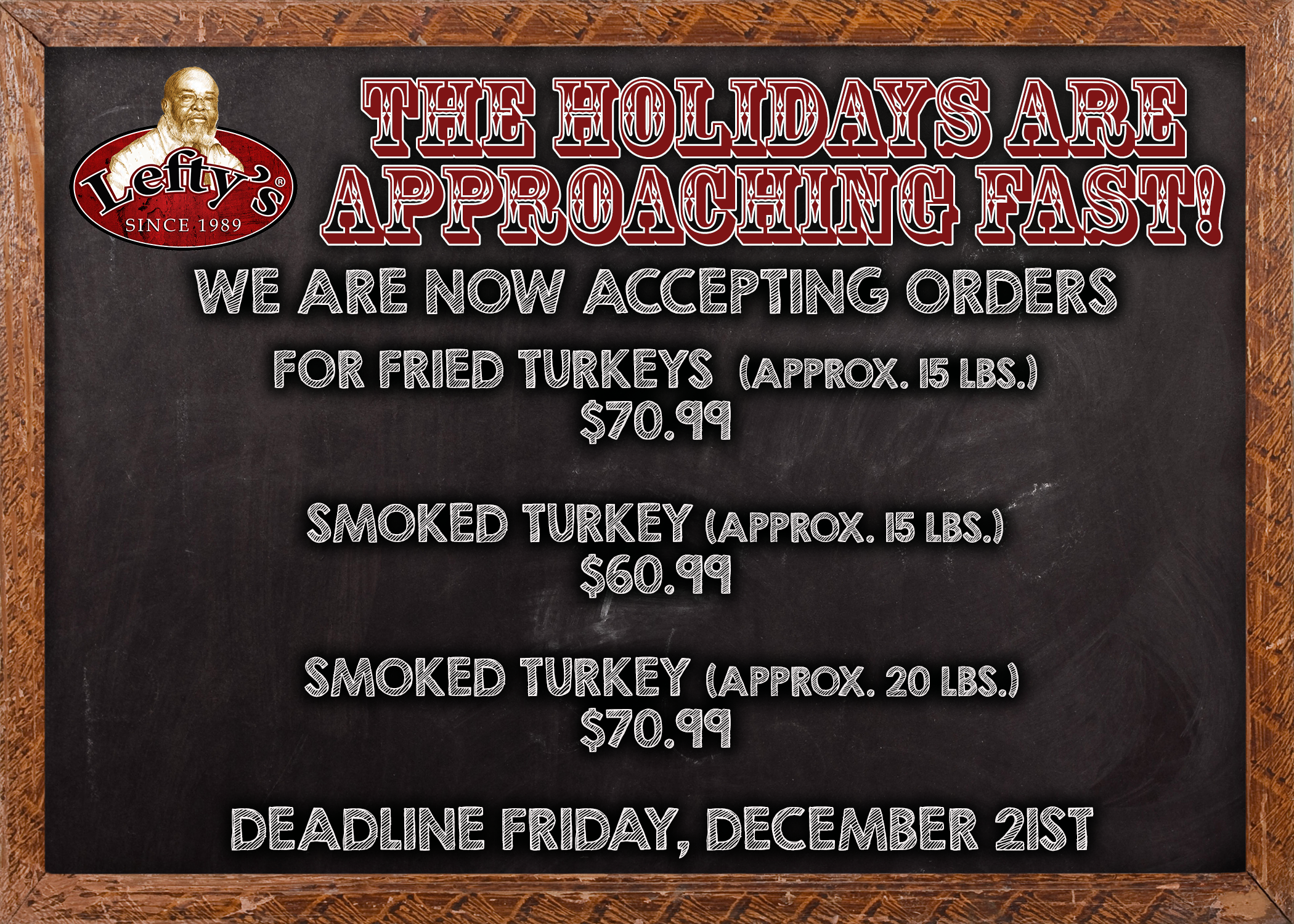 Turkey Orders