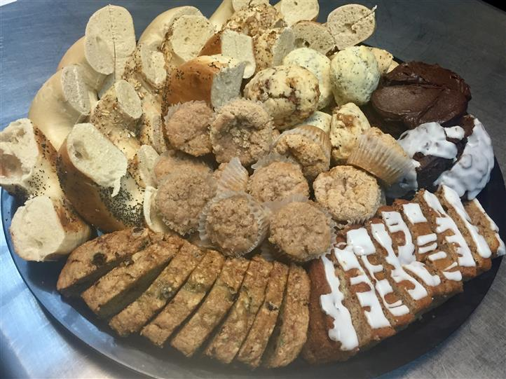 Tray with assorted cookies and biscuits