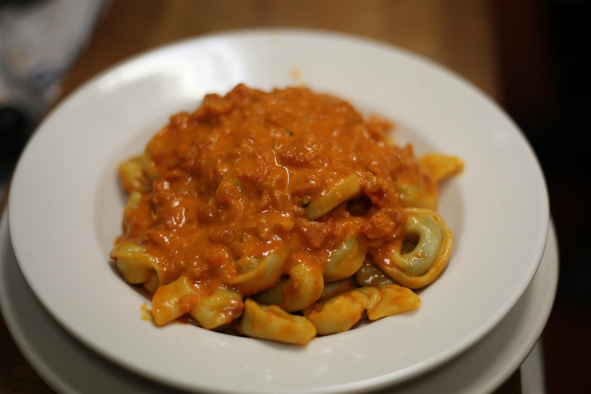 Tortellini in Vodka Sauce.