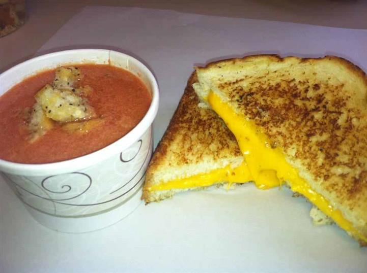 soup and grilled cheese