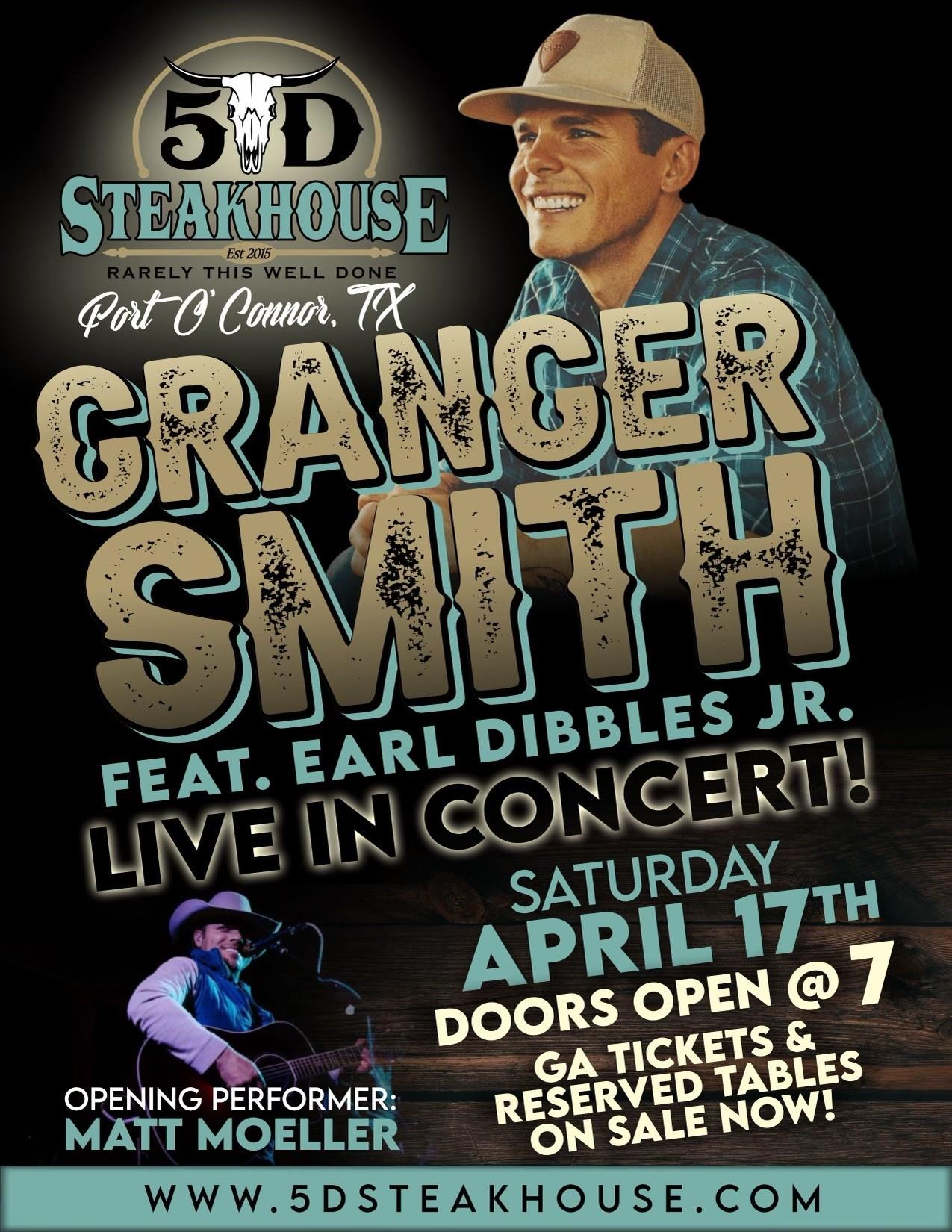 5D Steakhouse - Crancer Smith feat. Earl Dibbles Jr. Live in concert! Saturday, April 17th, doors open at 7pm. GA tickets & reserved tables on sale now!