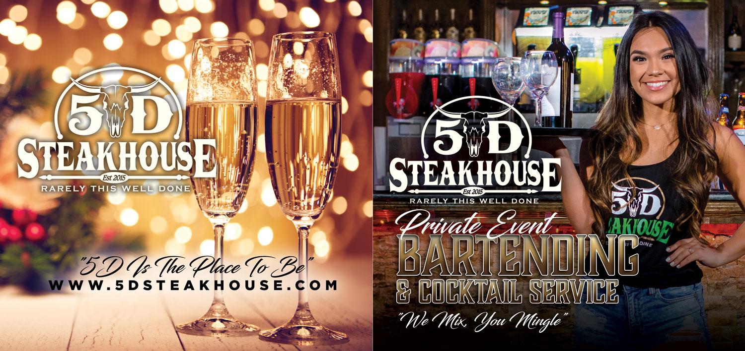 5D steakhouse is the place to be. private event bartending & cocktail service