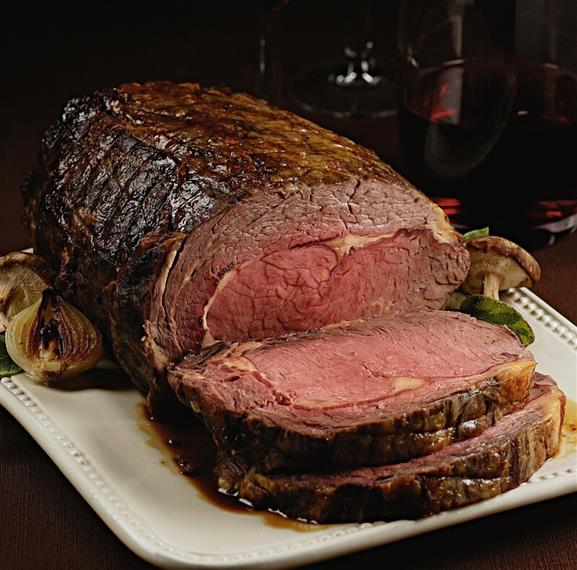 beef roast sliced on a plate
