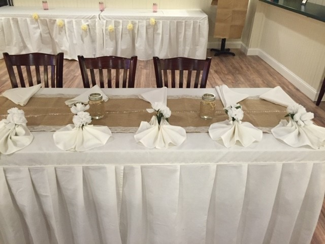 table set up and decorated for a private events
