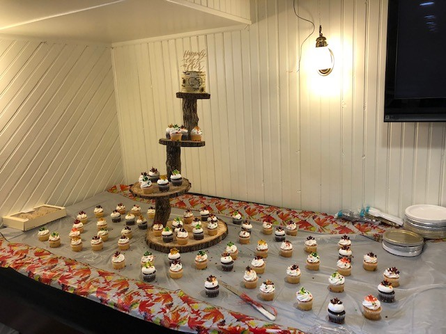 dessert table set up for an event