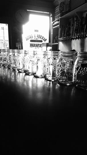 Several mason jars lined up