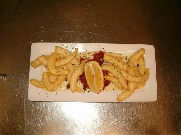 appetizer with lemon wedge