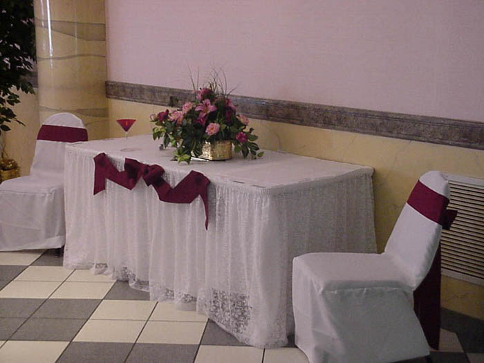 a decorated serving table