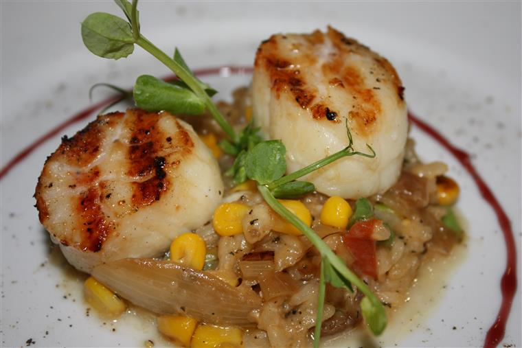 A picture of our scallops