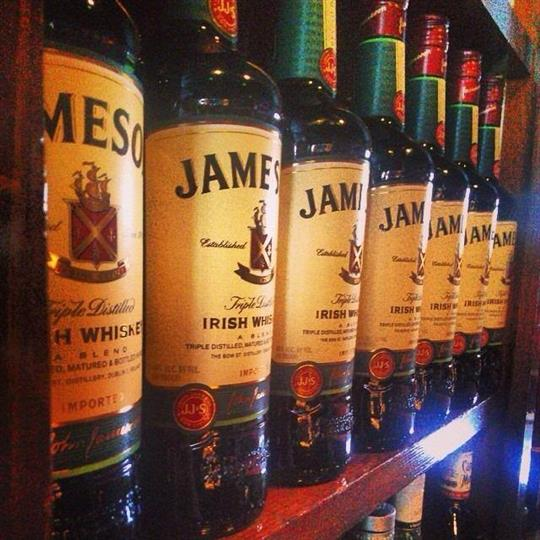 row of alcohol bottles