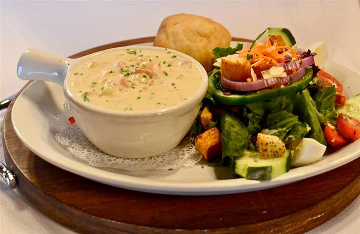 soup and a salad