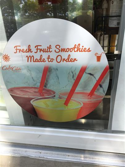 Fresh Fruit Smoothies made to order