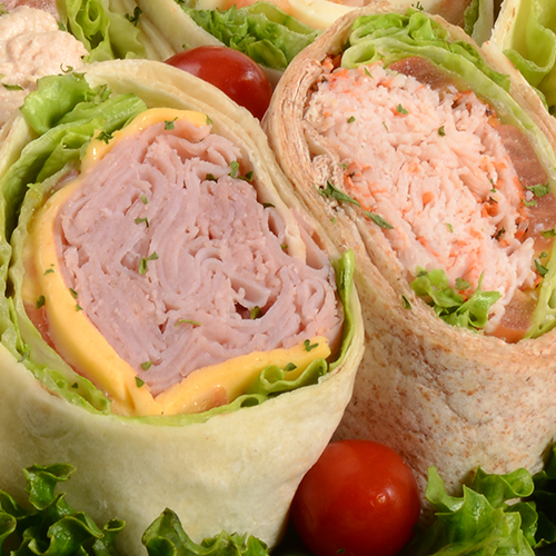 Wraps with lettuce