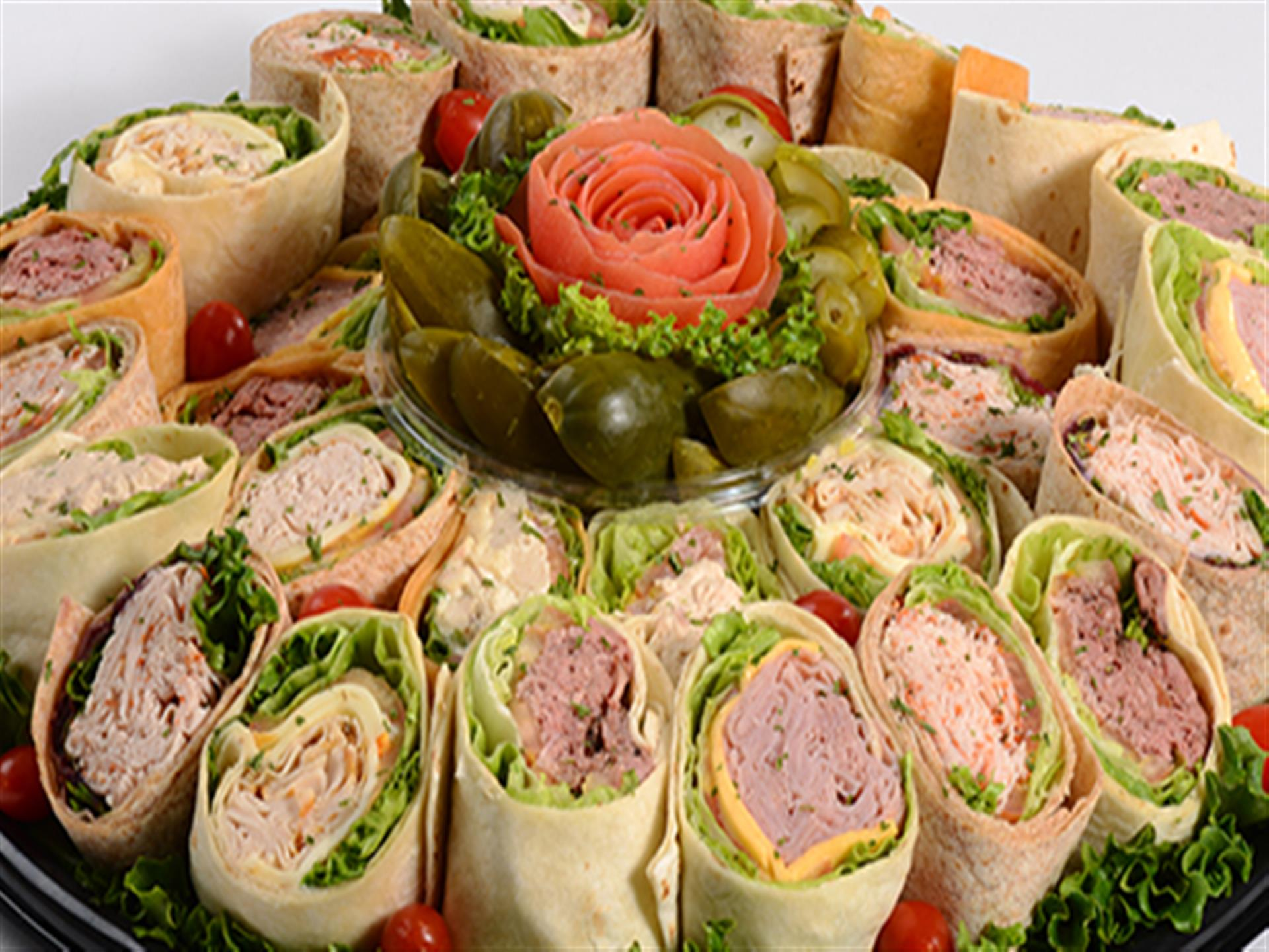 turkey and ham wraps