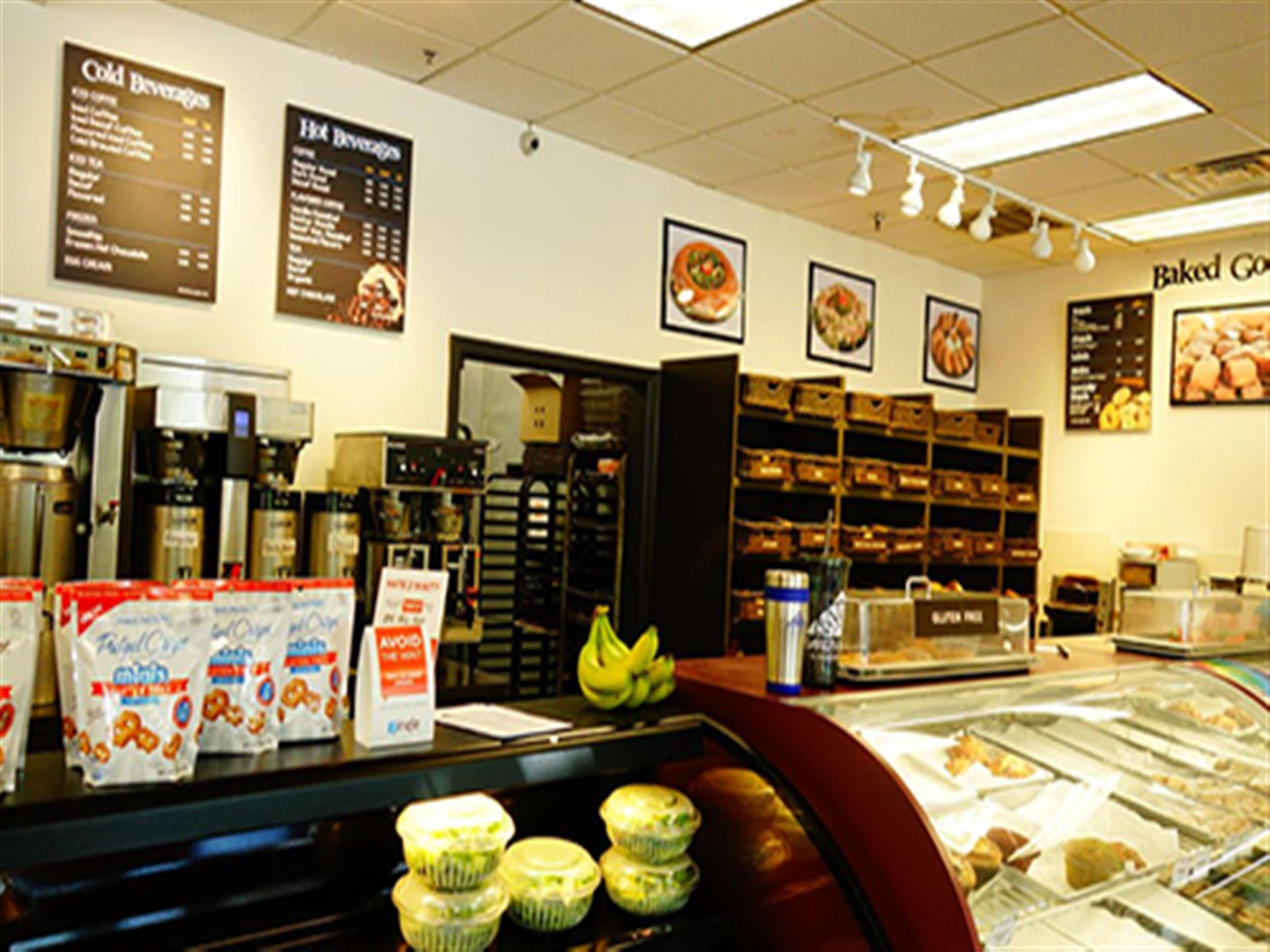 inside view of david's bagels