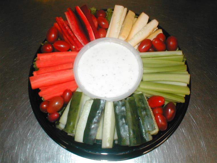 celery tomatoes and dip