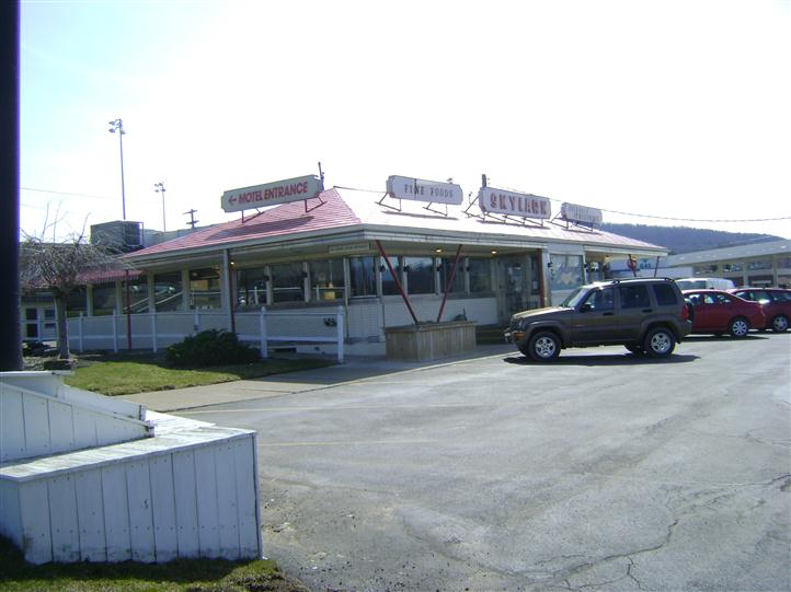 Skylark diner parking lot