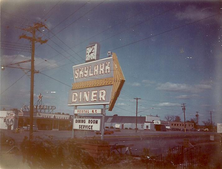 Vintage photo of Skylark diner sign