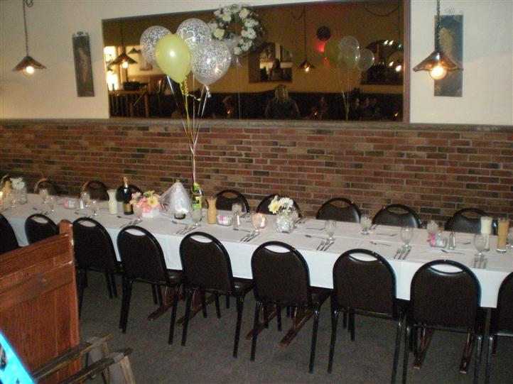 Tables and chairs setup for a party
