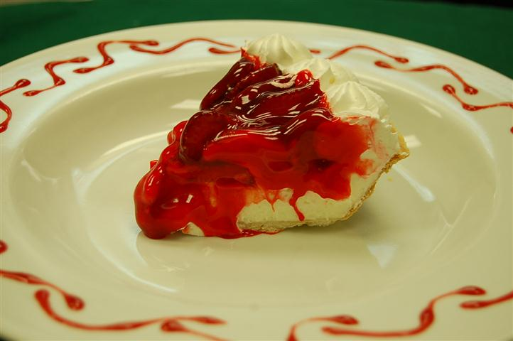 Slice of cherry pie.