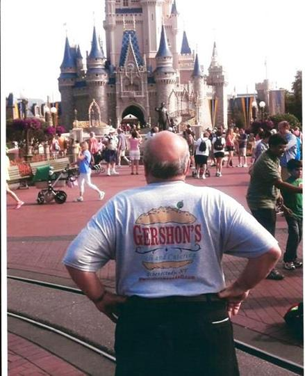 person wearing gershon's t-shirts at disney