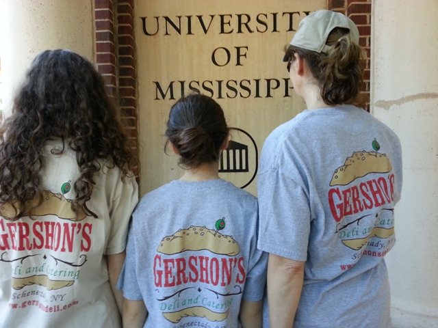 people wearing gershon's t-shirts