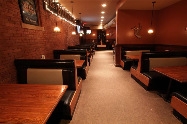 interior dining area with booths