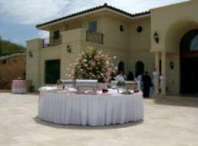 catering table outside