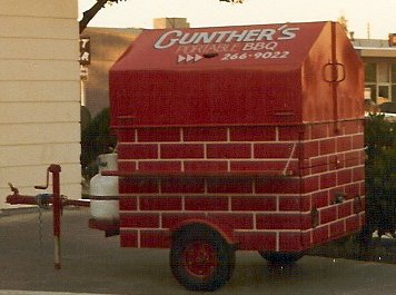 Gunther's portable B B Q on wheels