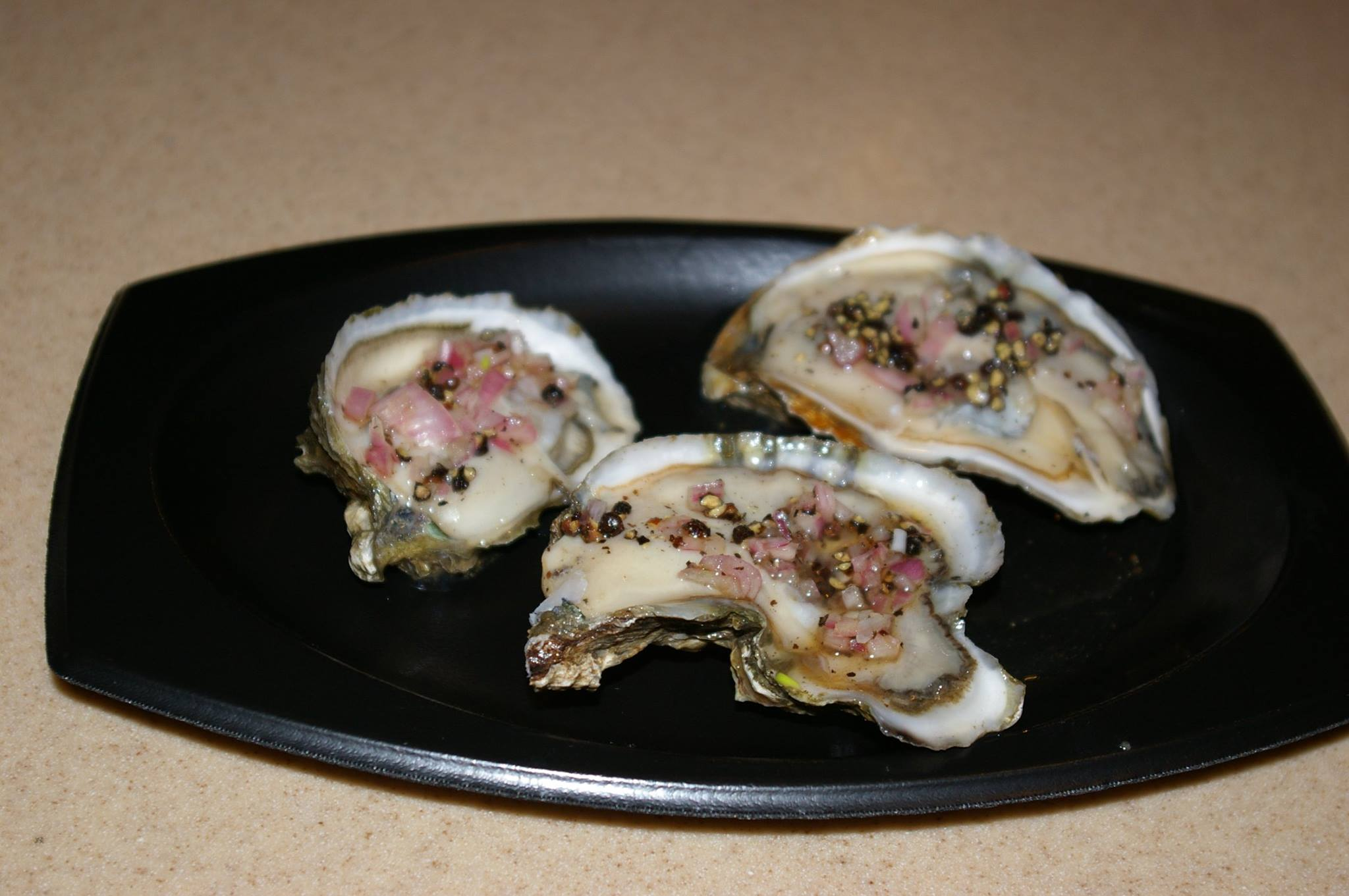 oysters topped with bacon