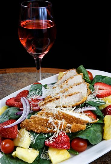 Parmesan Crusted Chicken Salad