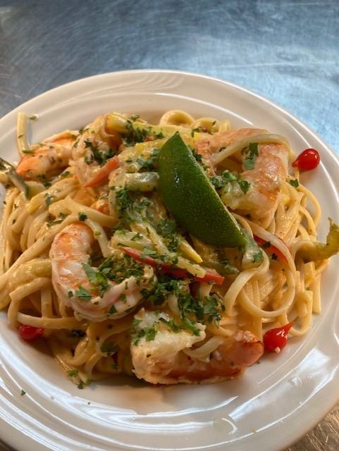Red Curry Coconut Pasta