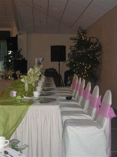 Table set up with variety of dishes and silverware