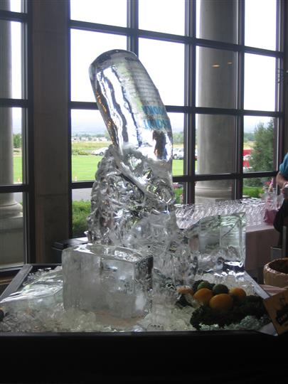 """Absolut Vodka"" Ice Sculpture"