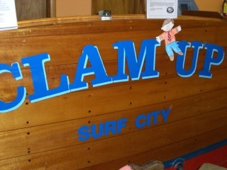 words that say clam up surf city