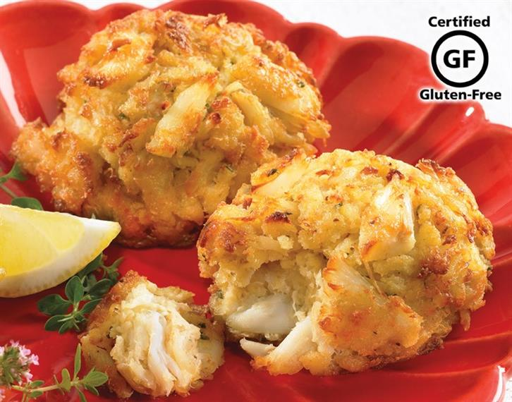 two crab cakes