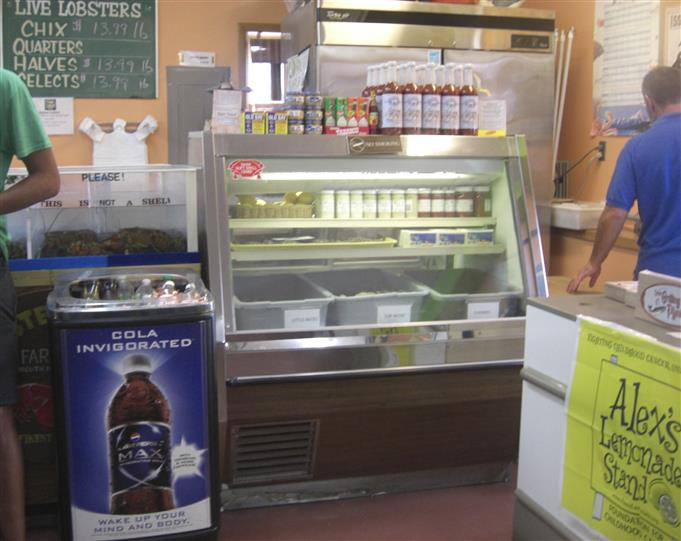 another refrigerated counter